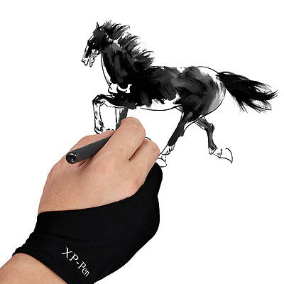 XP-Pen Artist Glove for Drawing Tablet/Pen Tablet/Tracing Pad Two-Finger Glove