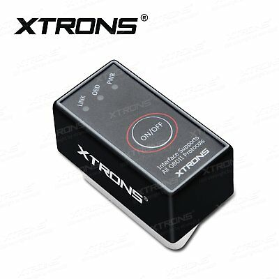 XTRONS Bluetooth ELM327 OBD2 Car Auto Scanner Tool Switch OBDII CAN BUS Android