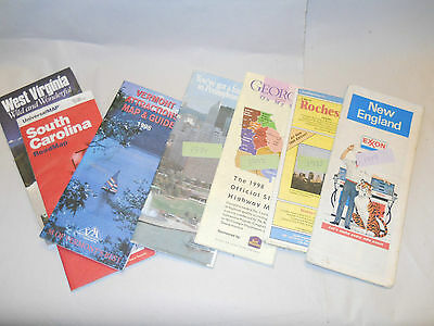 Vintage Lot of 16 Road Maps Too Different States Exxon and Others