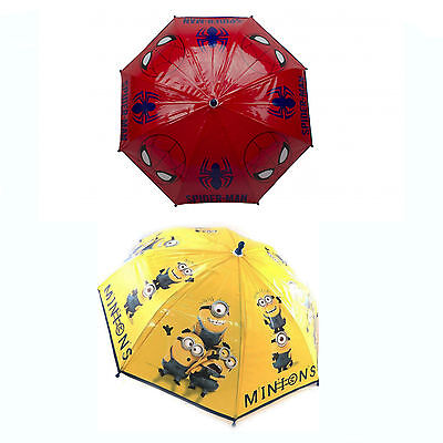 Kids Character Spiderman & Despicable Me Minions Umbrella Brand New Gift