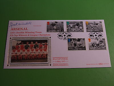 BENHAM BLCS117b FDC FOOTBALL HEROES ARSENAL DOUBLE WINNER SIGNED FRANK McLINTOCK