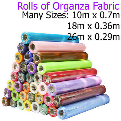 Roll of Organza Fabric Wedding Chair Sash Party Bows Sashes Tableware Runners UK