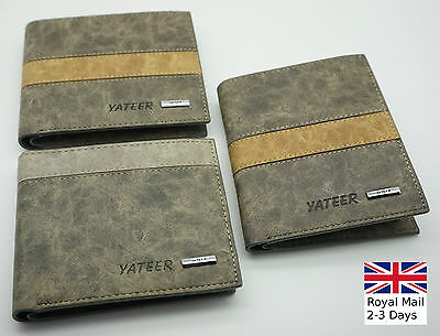 Mens Luxury Soft Quality Bifold Leather Wallet Credit Card Holder Purse