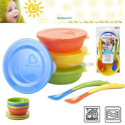 Munchkin Love a Bowls 20 Pieces Weaning Baby Feeding Bowls Food Storage x 2 Pack