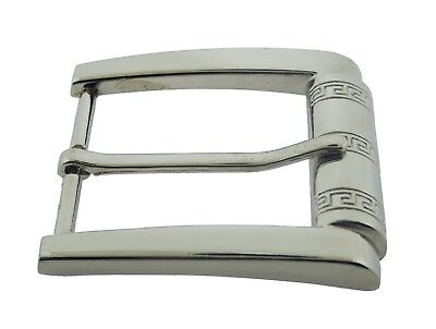 "Pin Prong Belt Buckle 1 3/4"" (45 mm) Strap Belts Silver Metal Costume Fashion"