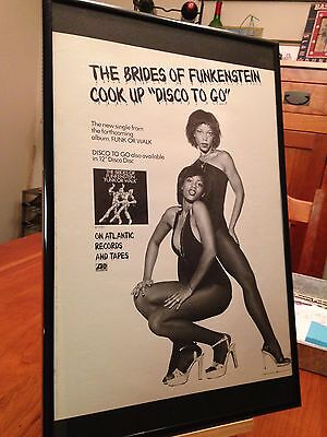 "Big 11X17 Framed The Brides Of Funkenstein ""funk Or Walk"" Lp Album Cd Promo Ad"