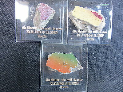 1 - Authentic Piece Of The Berlin Wall-With Acrylic Stand with COA
