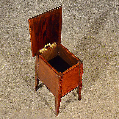 Antique Arts & Crafts Oak Sewing Ladies Work Box Stool by St. Dunstan's c1920