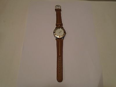 New Vintage Avon Women's Sports Watch W/ Date 1992 Genuine Leather Wristband