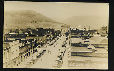 Circa 1910 Rppc Main Street La Grande Oregon Postcard Unposted - Very Rare