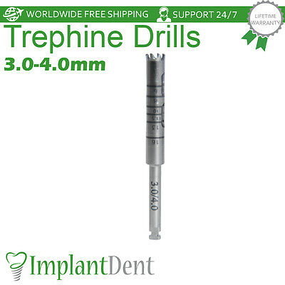 Trephine Burrs 3.0X4.0mm Diameter Dental Implant Surgical Surgery Drill Tools