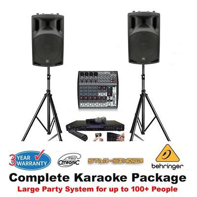 Karaoke Machine Package with a Professional Mixer PA System 500 Pro Songs