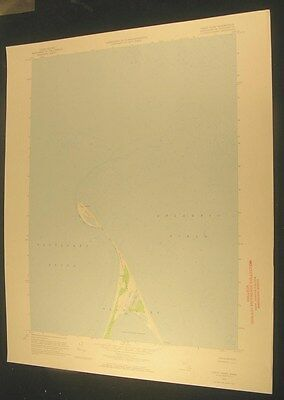 Great Point Nantucket Massachusetts Lighthouse 1973 antique color lithograph map