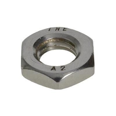 Qty 10 Hex Lock Nut M8 (8mm) Metric Stainless SS 304 A2 70 Thin Half Jam