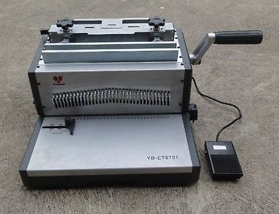 Electric Foot Pad Punching Wire Binding Machine 2:1 Pitch