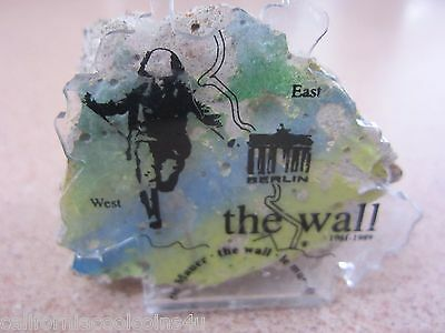 Jumper 3 - 5 Ounce Piece Of The Berlin Wall Acrylic Holder and C.O.A. 65 - 70 mm