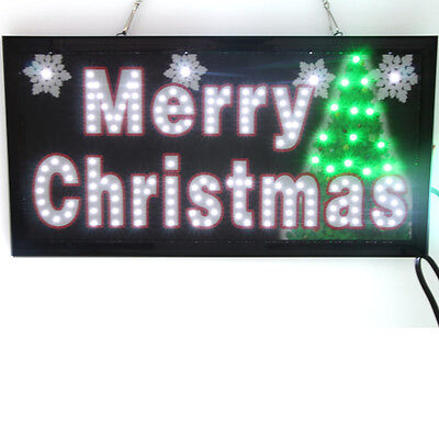 Animated LED Neon Light MERRY CHRISTMAS LED sign with On/Off Motion Switch