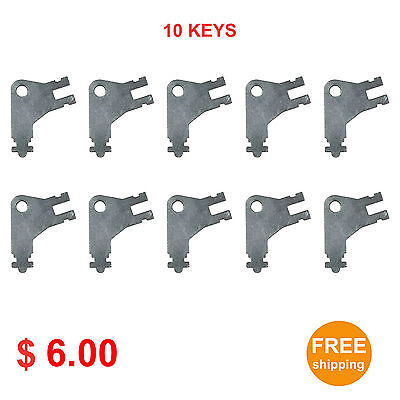 Cormatic Dispenser Key #50504 for Paper Towel & Toilet Tissue Dispensers 10pcs