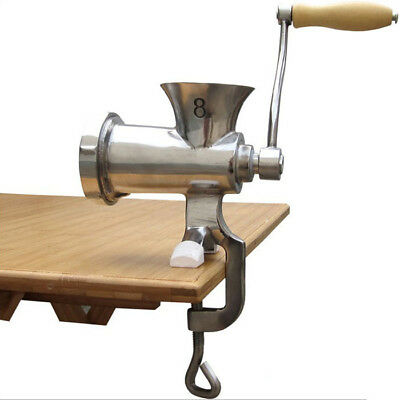 Professional Hand Crank Meat Grinder Sausage Mince Maker 304 Stainless Steel New