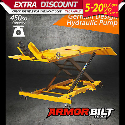 NEW ARMORBILT HYDRAULIC MOTORCYCLE LIFTER Motorbike Lift Stand Table Jack Hoist