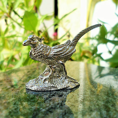 Small Pewter Pheasant Ornament. Made in Cornwall, contains 92% Tin