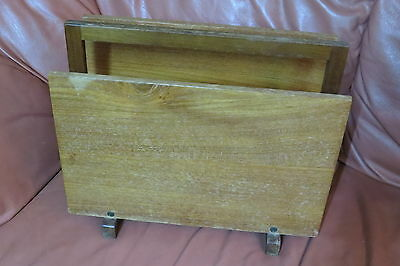 Retro Teak Magazine Modern Vintage Teak Newspaper Holder