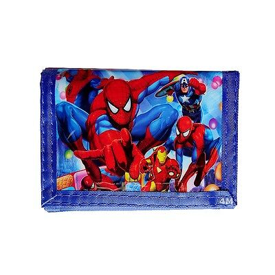 Kids Boys Coin Purse Wallet Spiderman Marvel Avengers Captain America Iron Man