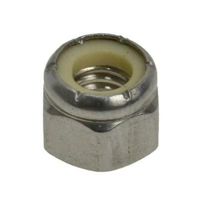 "Qty 20 Hex Nyloc Nut 1/4"" UNC Imperial Stainless Steel SS 304 A2 70 BSW"