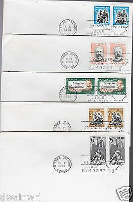 Canada FDC Collection - 5 FDCs from the Sixties!
