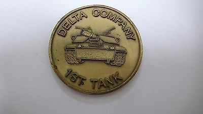 DELTA COMPANY 1st TANK CHALLENGE COIN USED