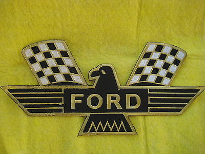 """Vintage Ford Bird Racing  Patch  8 """" X 4"""""""