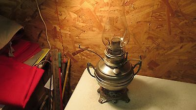 Antique The Improved Nickel finish Oil Lamp