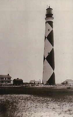 Cape Lookout Lighthouse Core Bank Island Outer Banks North Carolina NC, Postcard