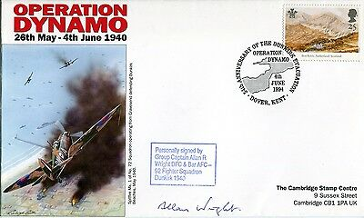 WW2 RAF Battle of Britain & Dunkirk pilot Wright DFC signed cover