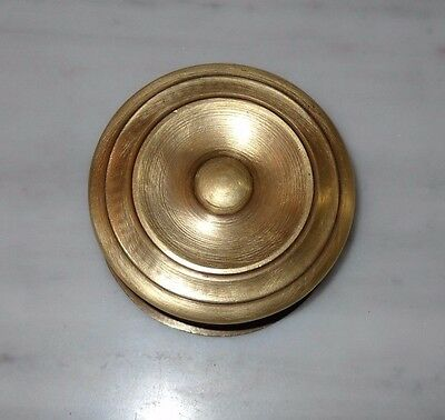 Vintage Greece solid brass large door knob handle D10