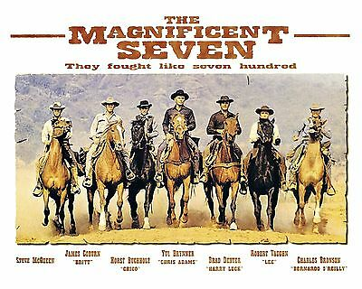 Magnificent Seven 01 (Yul Bryner) Film Poster Glossy Photo Print 01