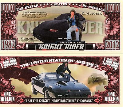 Knight Rider TV Series Million Dollar Novelty Money
