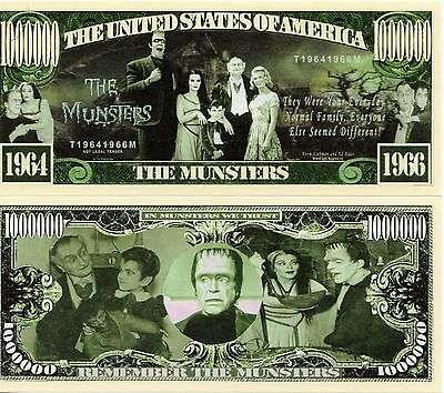 The Munsters TV Series Million Dollar Novelty Money