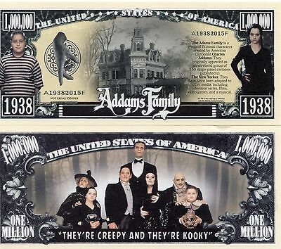 The Addams Family TV Series Million Dollar Novelty Money