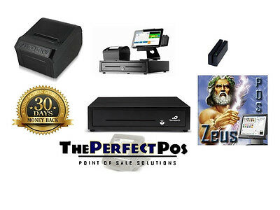 New Restaurant Point of Sale POS System w/ All Peripherals ZeusPOS Tablet Bundle