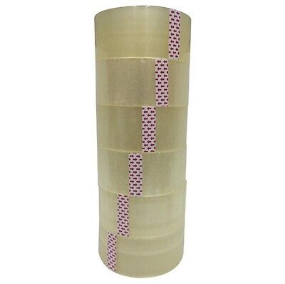 """6 ROLL CLEAR SHIPPING PACKING CARTON SEALING TAPE 2.0MIL 2"""" x 55 Yards 165 ft"""