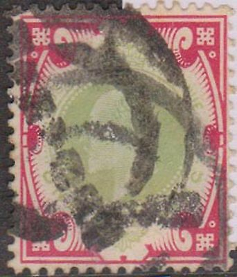 (GBK-97) 1902 GB 1/- red and green Edward VII (D)