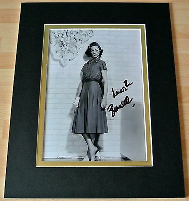 Lauren Bacall Hand Signed Autograph 10X8 Photo Mount Hollywood Film & Coa