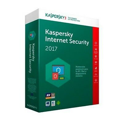KASPERSKY INTERNET SECURITY 2017 1PC  2Year SALE NEW VERSION NO CD