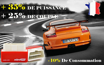BOITIER ADDITIONNEL CHIP BOX PUCE OBD TUNING BMW 530d 235 CV