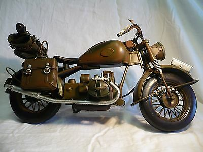 BMW R75 MILITARY WW2 Hand Made Motorcycle Metal Model Tinplate Collectible