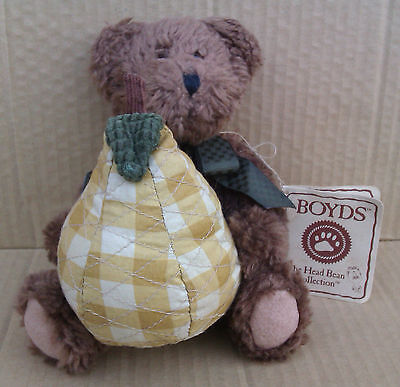 "8"" BOYDS ""BOSC P. PEARSLEY"" TEDDY BEAR WITH TAGS - H.B.`s HEIRLOOM SERIES"