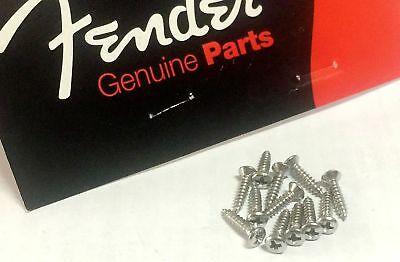 Genuine Fender Pickguard & Back Plate Mounting Screw Chrome 4 Strat Tele Guitar