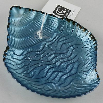 Sea Shell Shape Appetizer Canape Plate Pearlized Blue Seashell Gift Craft