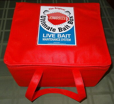 The Original Ultimate  Bait Box King Size minnow bait bucket
